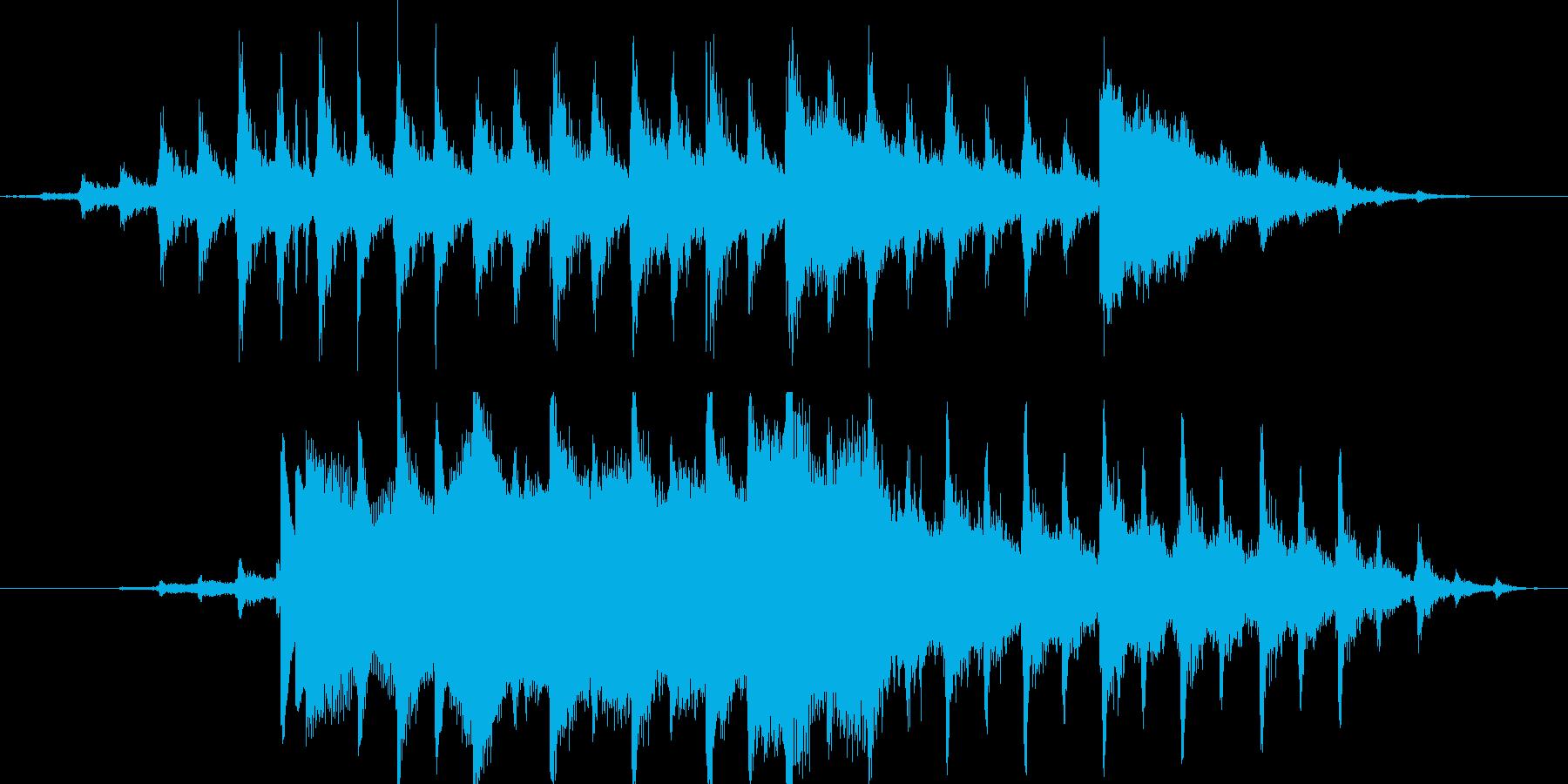 クリスマス時期に合いそうな短いサウンドの再生済みの波形