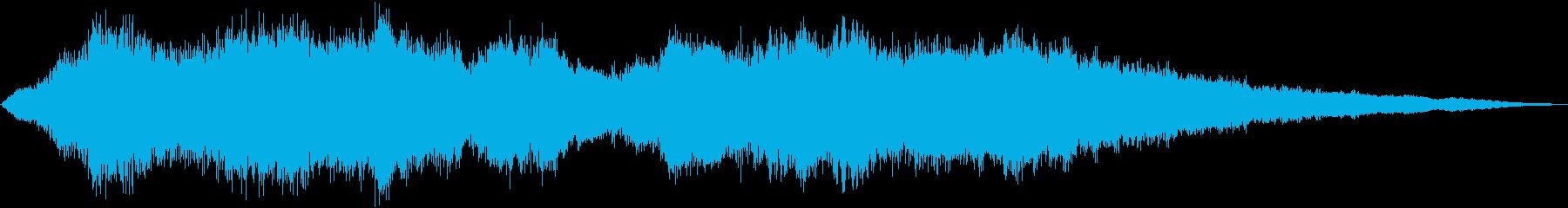 静かな始まりを連想するストリングス曲の再生済みの波形