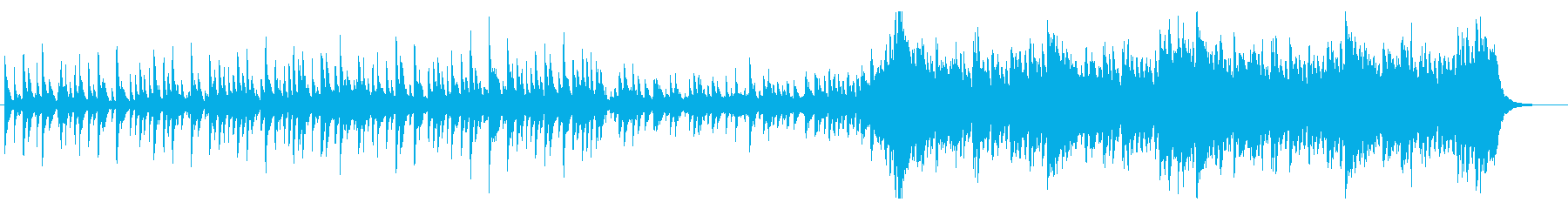 エスニック調の南国風楽曲壮大な展開ありの再生済みの波形