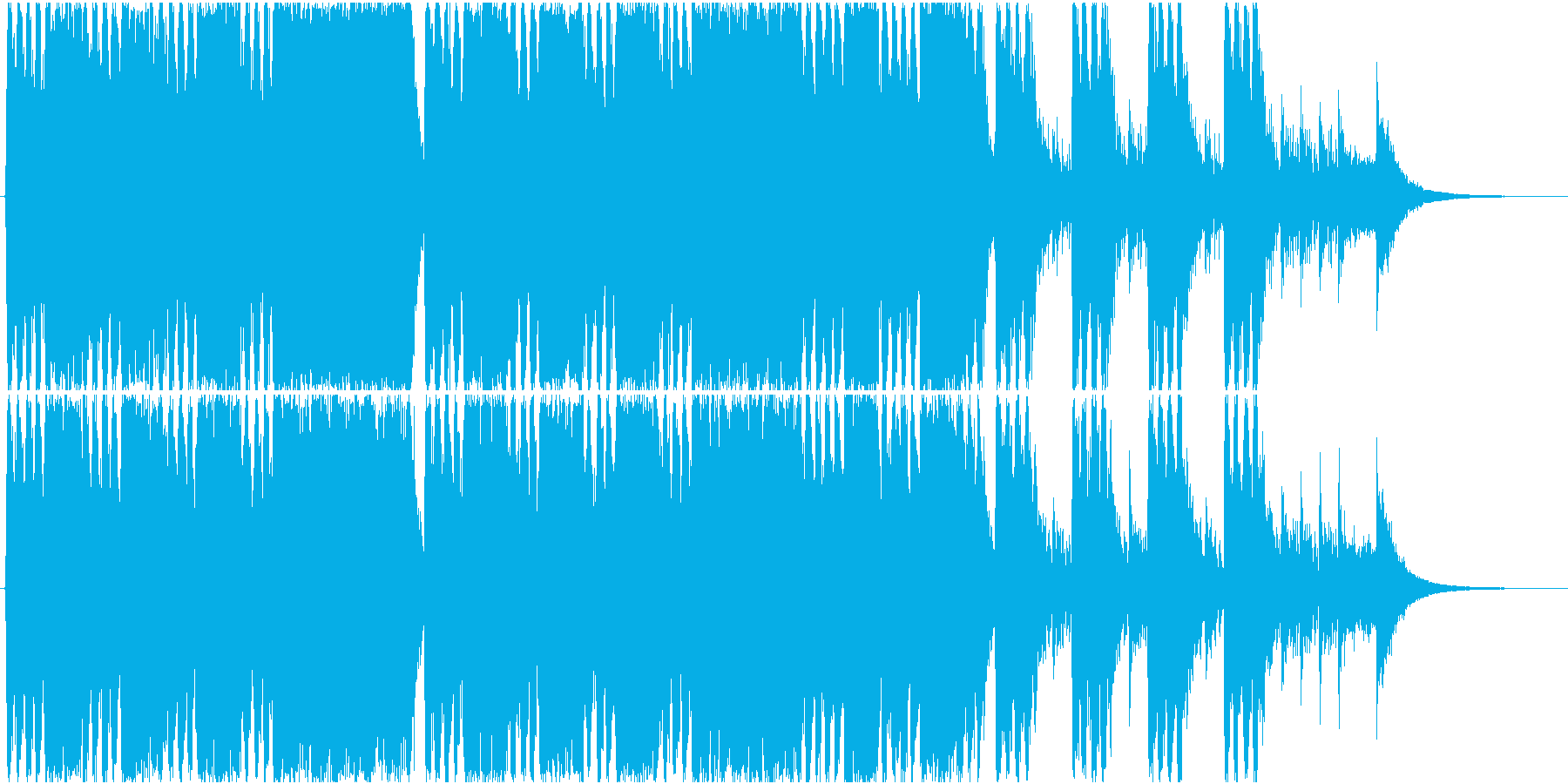勇ましく壮大な大合唱オーケストラ 凱歌の再生済みの波形