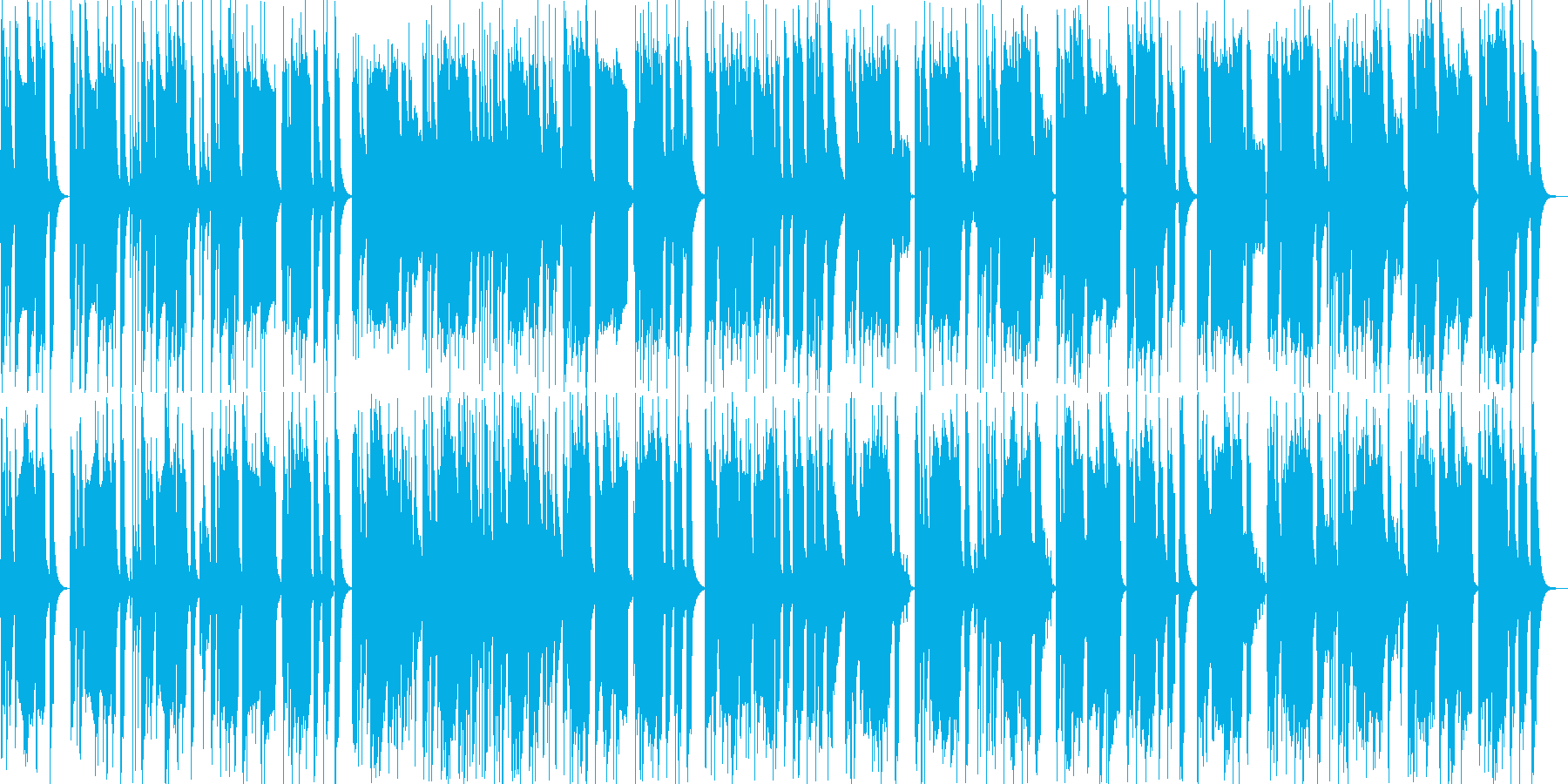 明るく軽快なほんわかポップスの再生済みの波形