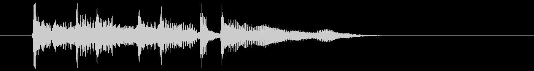 ゆったりなポップスによるジングルの未再生の波形