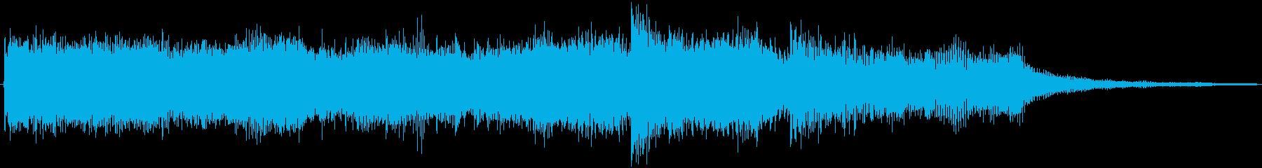 ゲーム等で使えるパワフルファンファーレの再生済みの波形