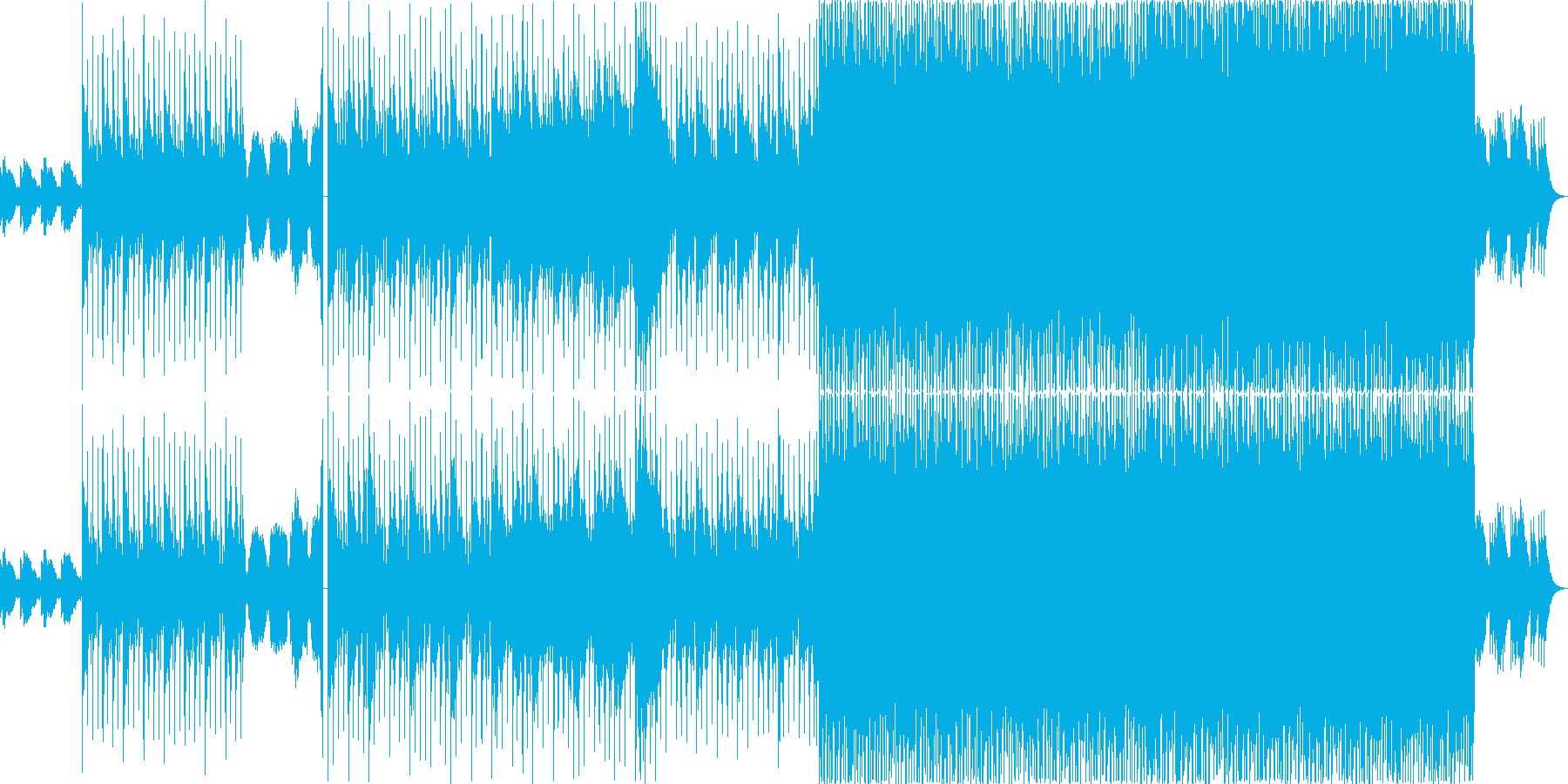 心の移り変わりを表した幻想的な曲の再生済みの波形