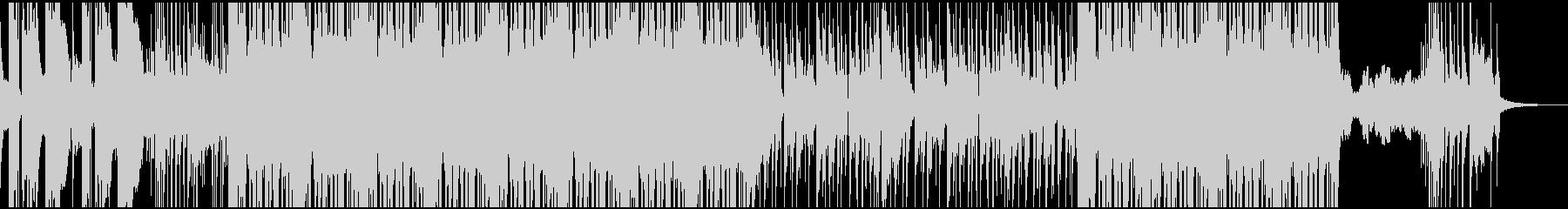 インパクトのある軽快なファンクロックの未再生の波形