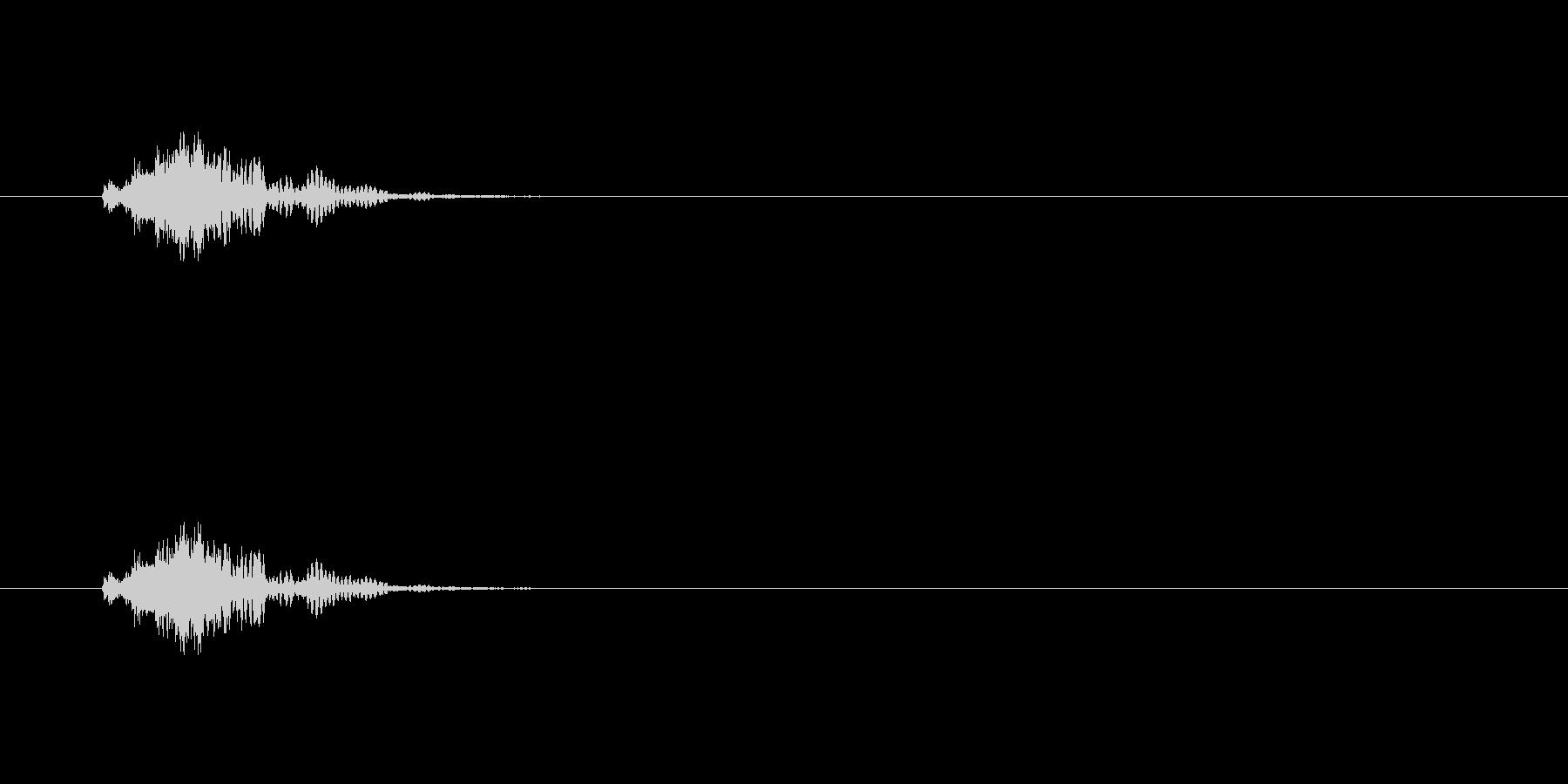 【スポットライト01-3】の未再生の波形