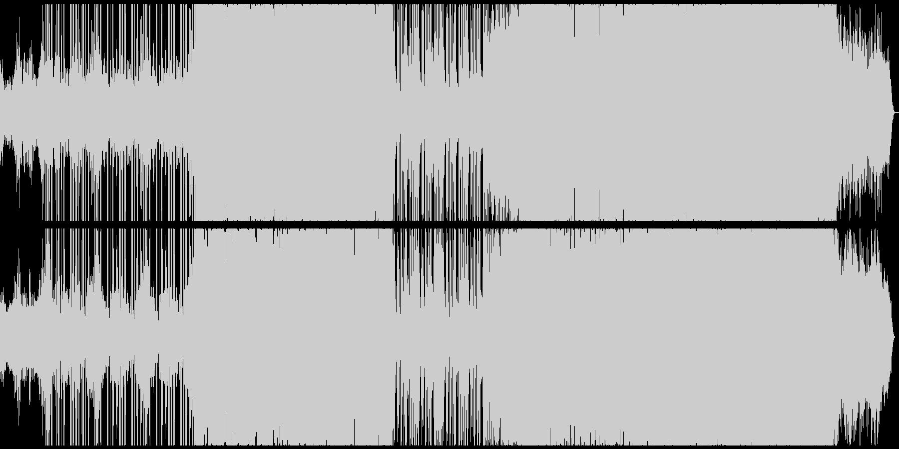 ブラスとシンセのバトルゲームBGMの未再生の波形