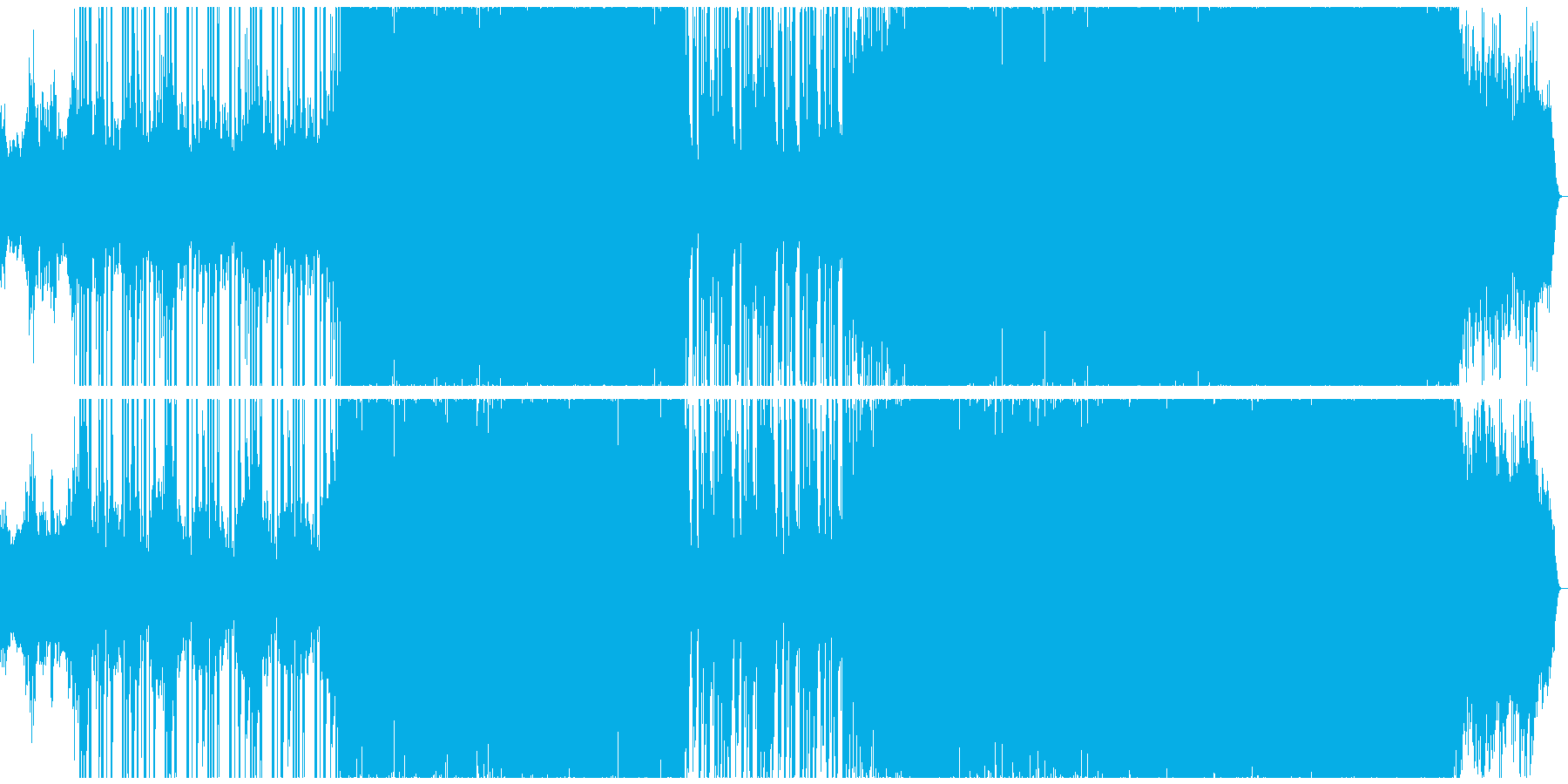ブラスとシンセのバトルゲームBGMの再生済みの波形