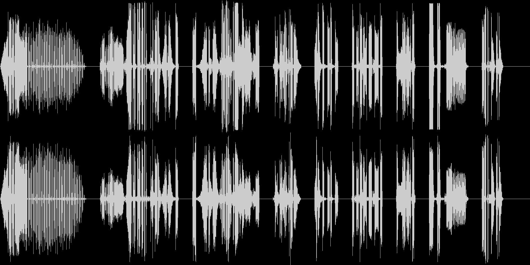 DJ Mad Computer X10の未再生の波形