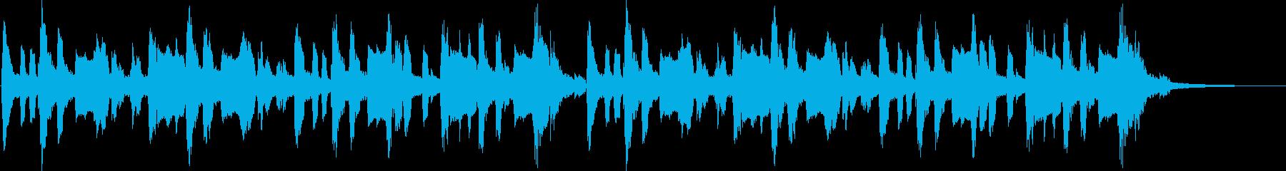 子供向けのワクワクするジングル(ロング)の再生済みの波形