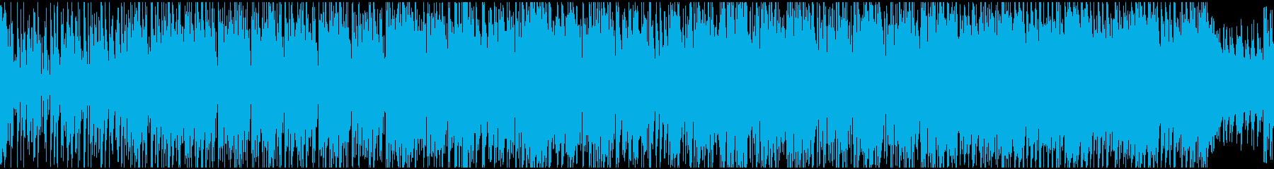 疾走感あるオシャレギターの再生済みの波形