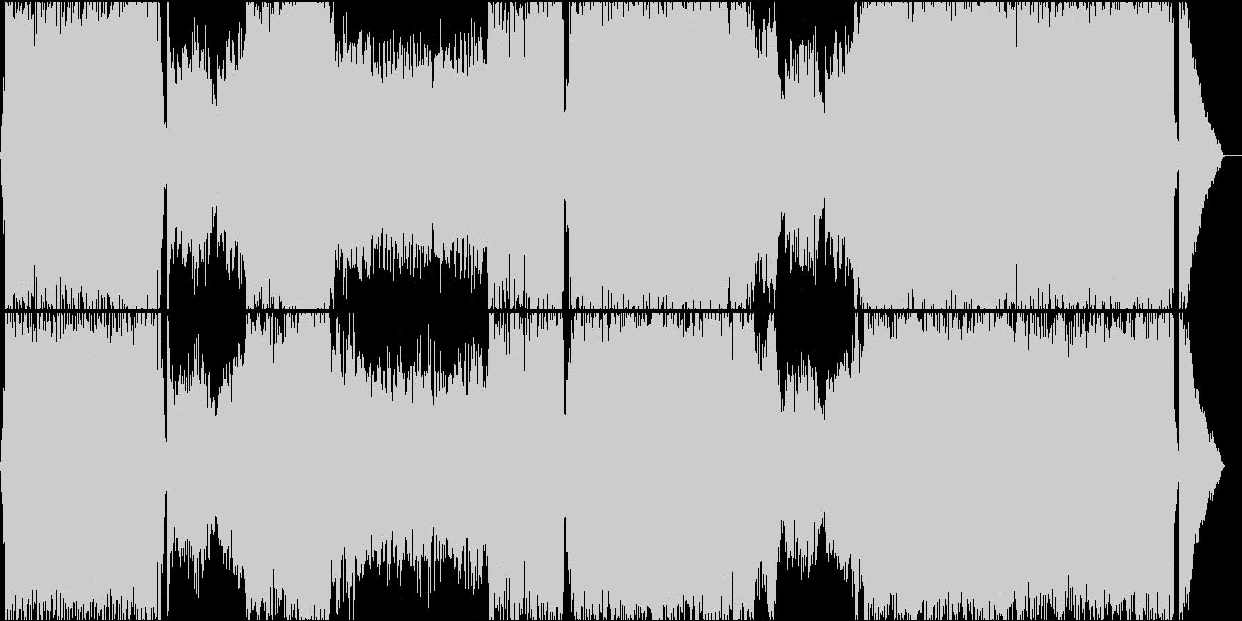 ボカロ系の激しいテクノ トランスの未再生の波形