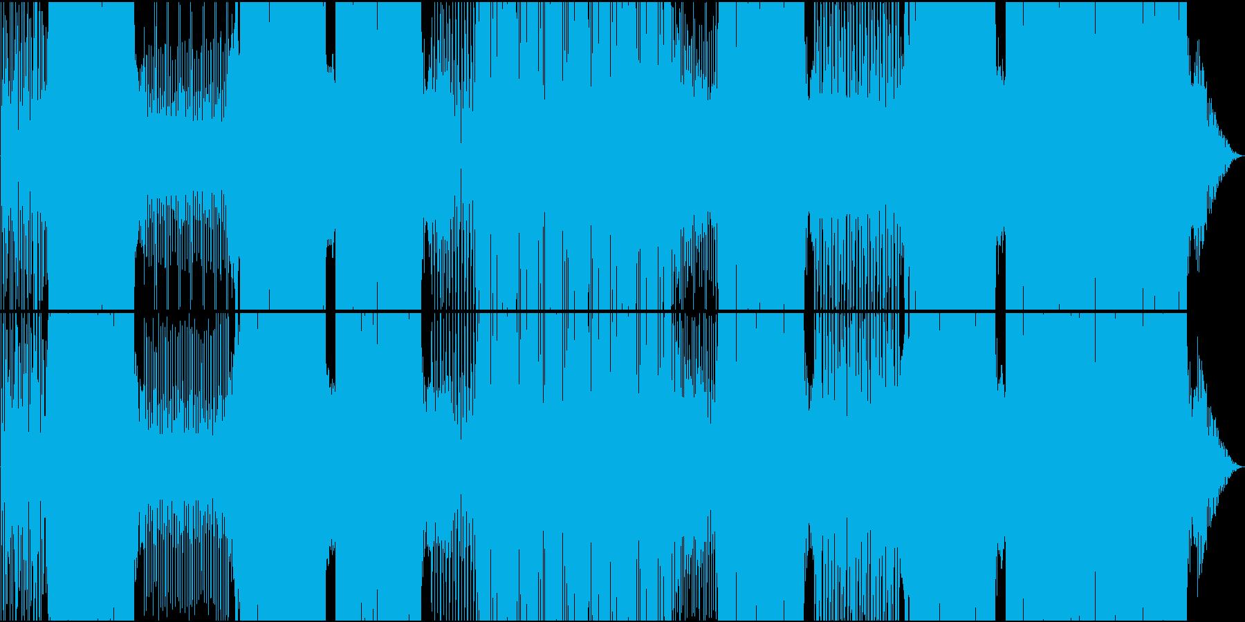 映像用ゆったりMoombahtonEDMの再生済みの波形