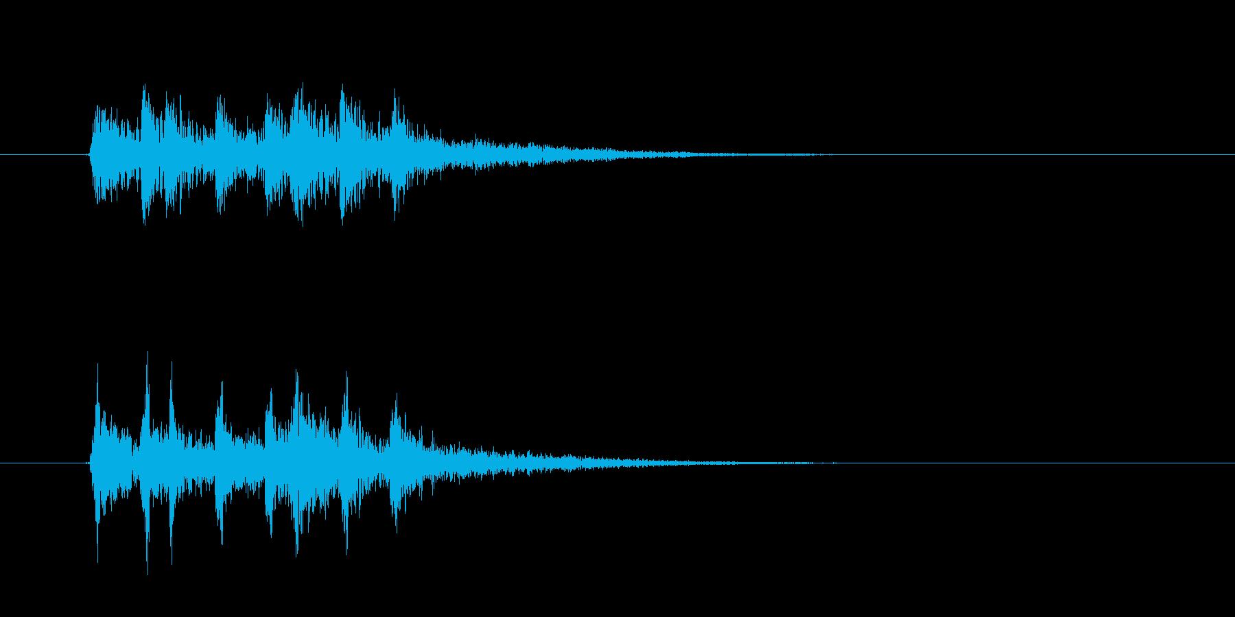 不穏な響きのジングル曲、サウンドロゴの再生済みの波形