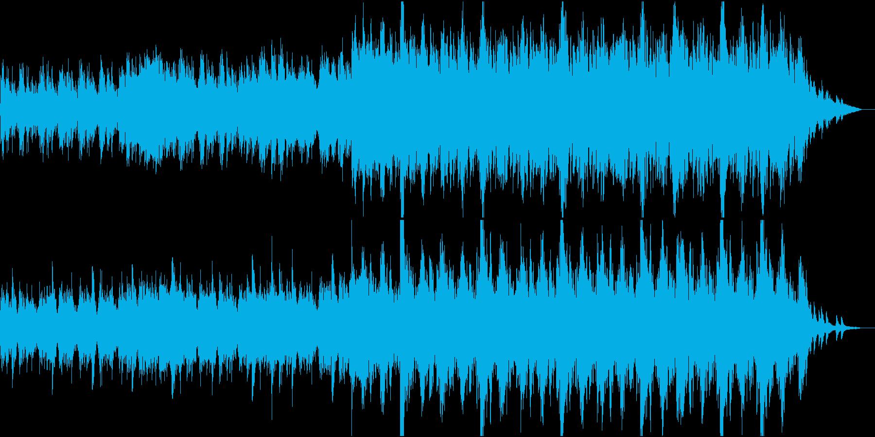 現代的な和風管弦楽④和太鼓と弦楽のみの再生済みの波形