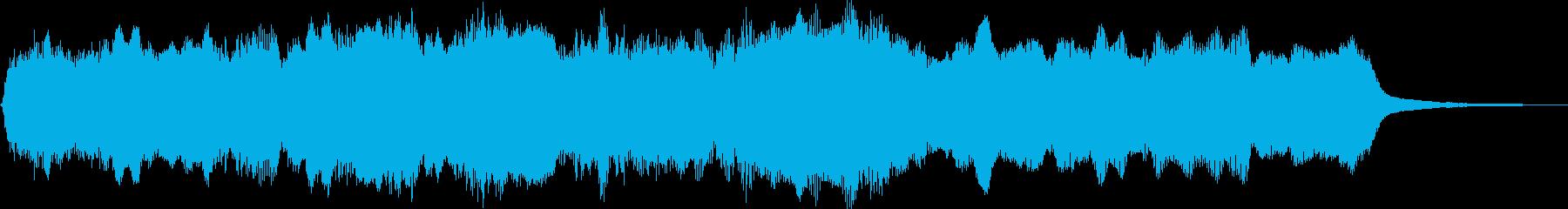 ゲームなどで味方が全滅した時の音の再生済みの波形