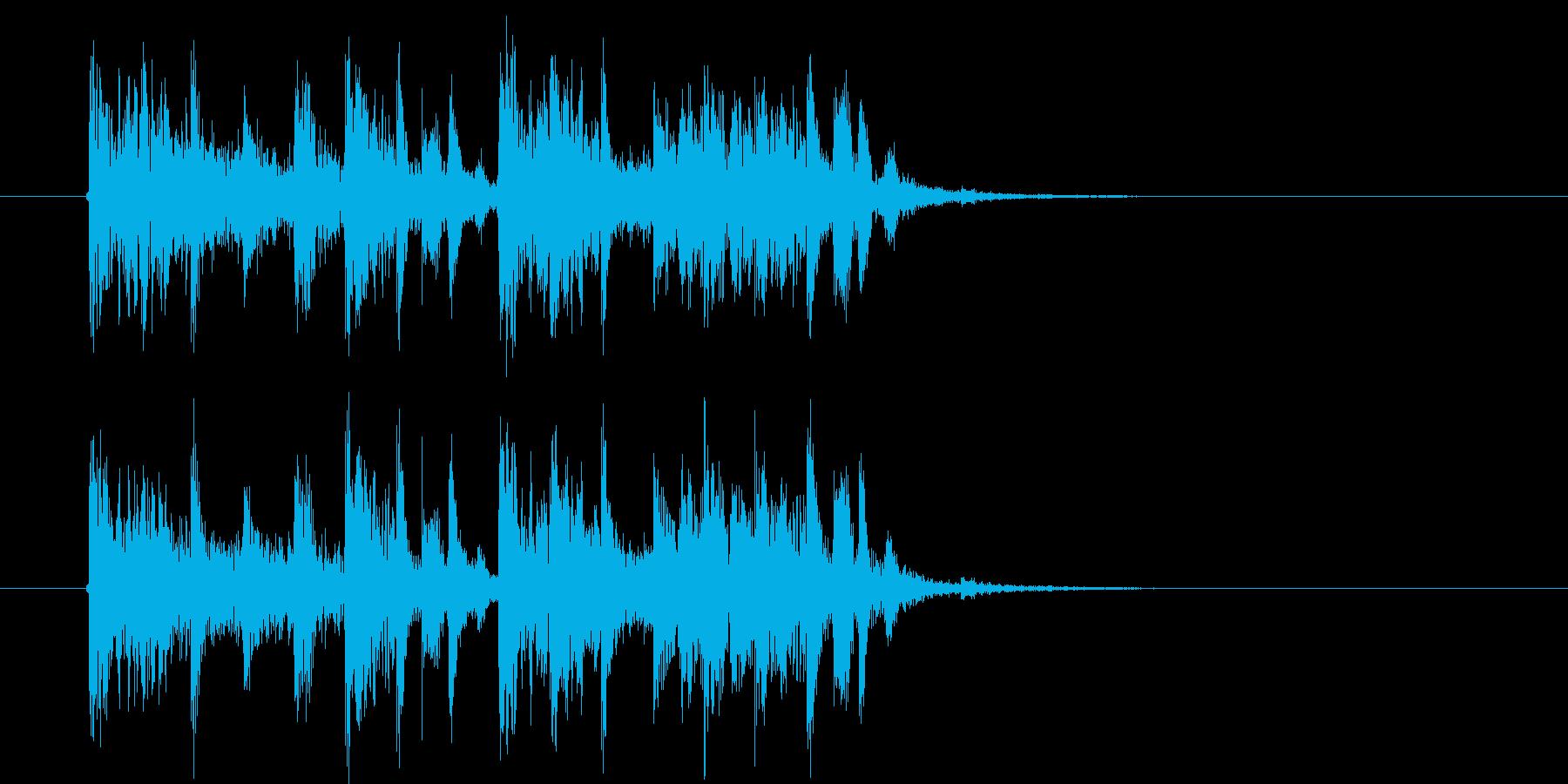 重厚感のある幻想的な音楽の再生済みの波形