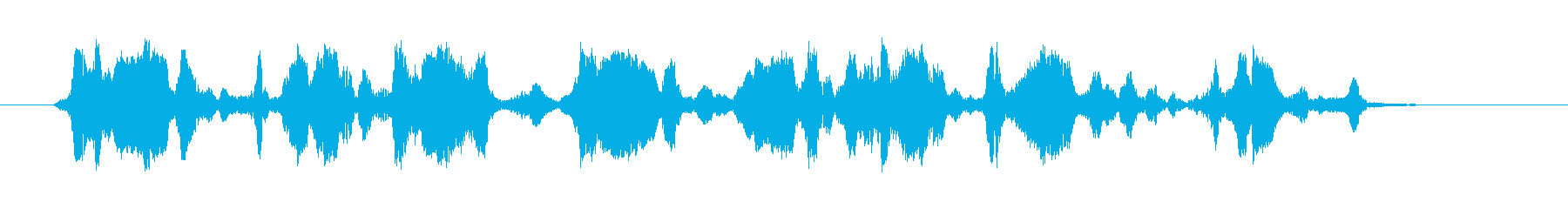 エコーオーバーレイを備えた合成振動...の再生済みの波形
