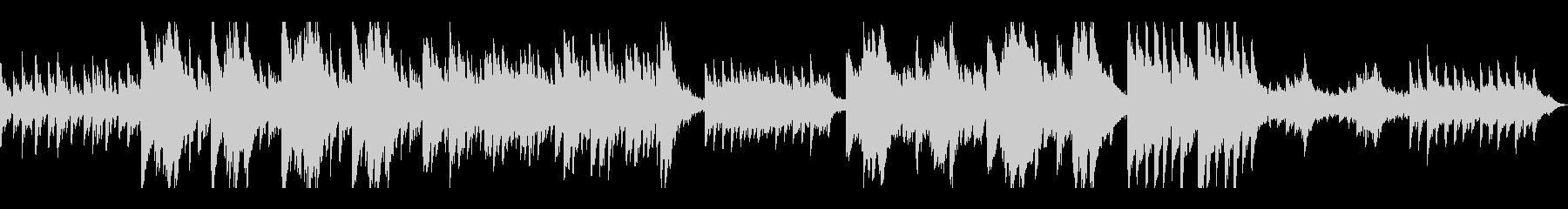 ダークなイメージのピアノの未再生の波形