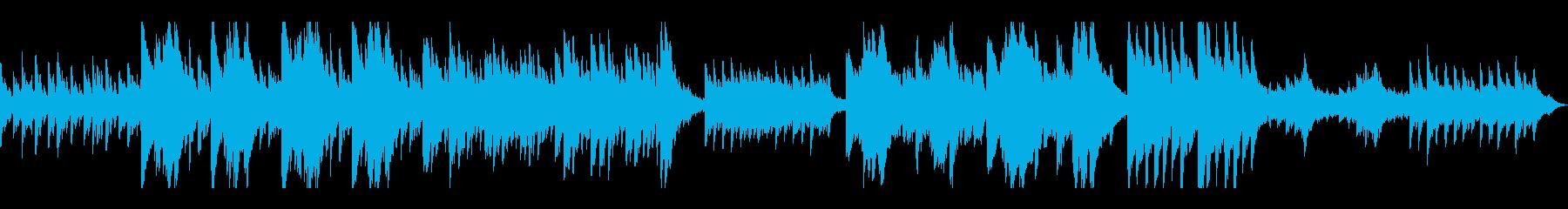 ダークなイメージのピアノの再生済みの波形