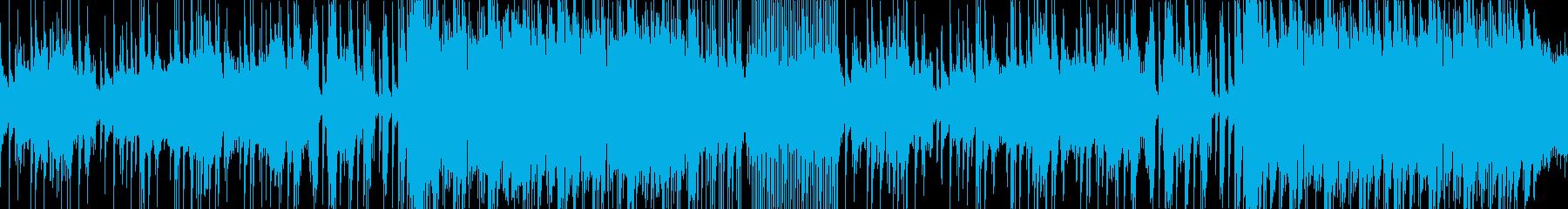 しみじみとした風情の尺八の和風曲ループの再生済みの波形
