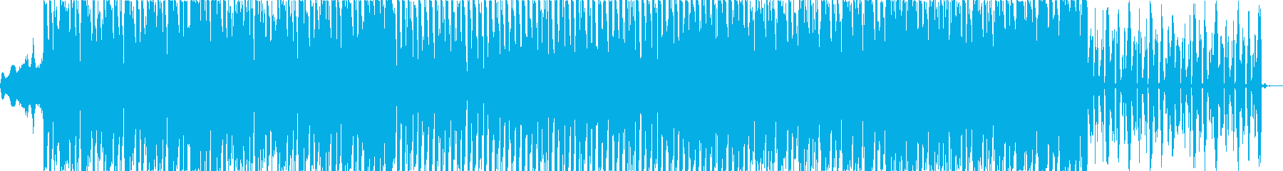 エクササイズにぴったりのシンプルEDMの再生済みの波形