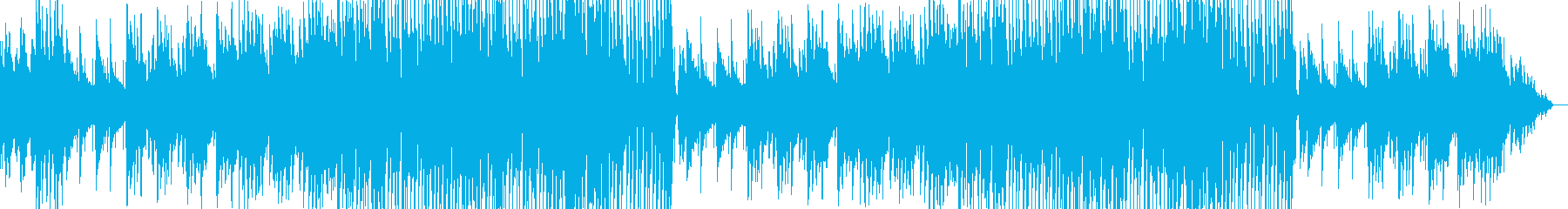 ポップに展開していく明るめの曲の再生済みの波形