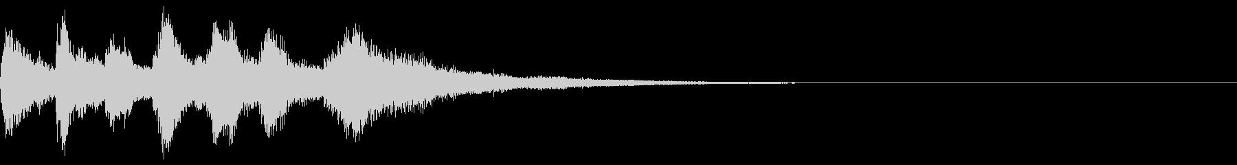 落ち着くピアノジングル2の未再生の波形