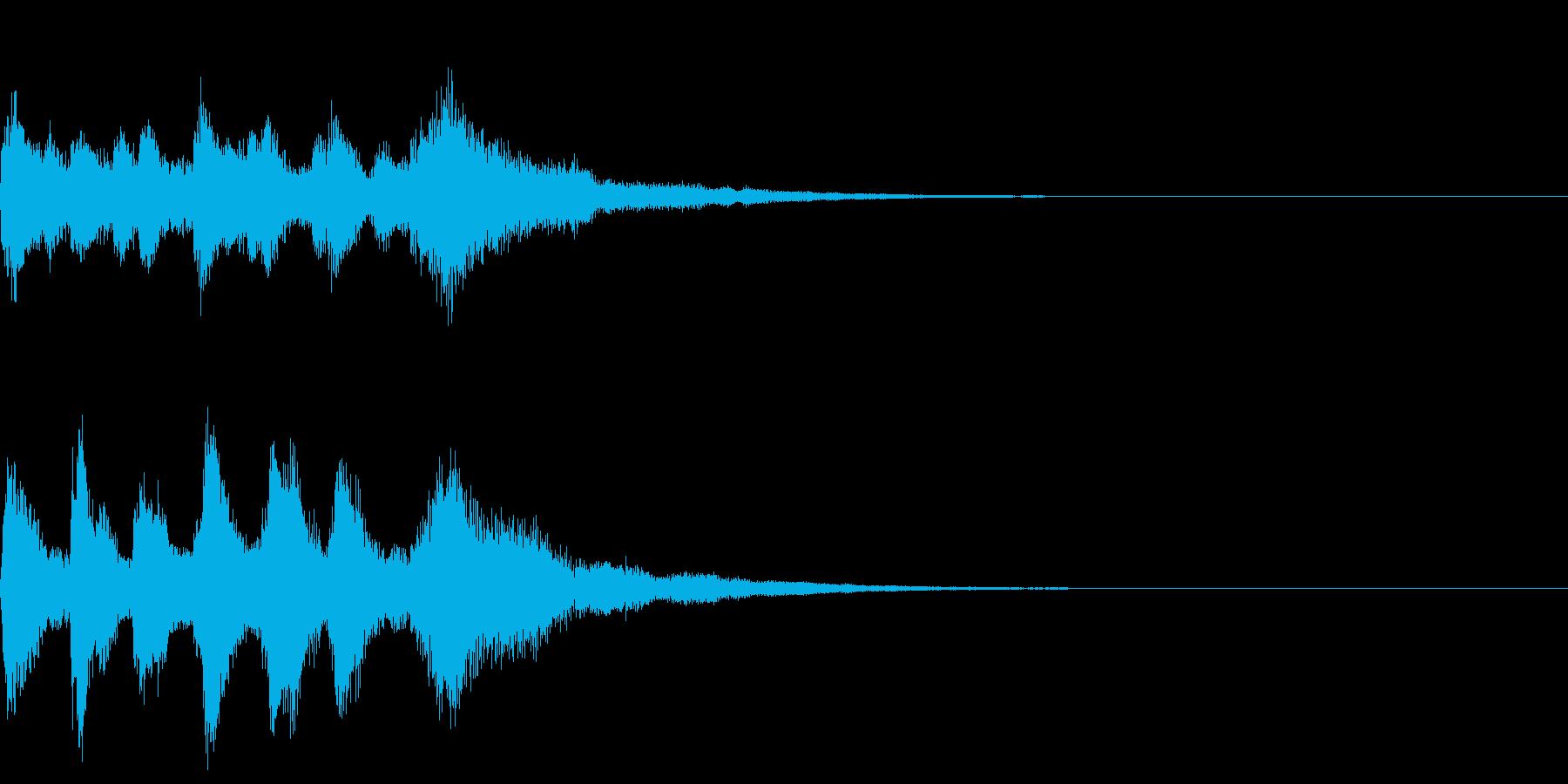 落ち着くピアノジングル2の再生済みの波形