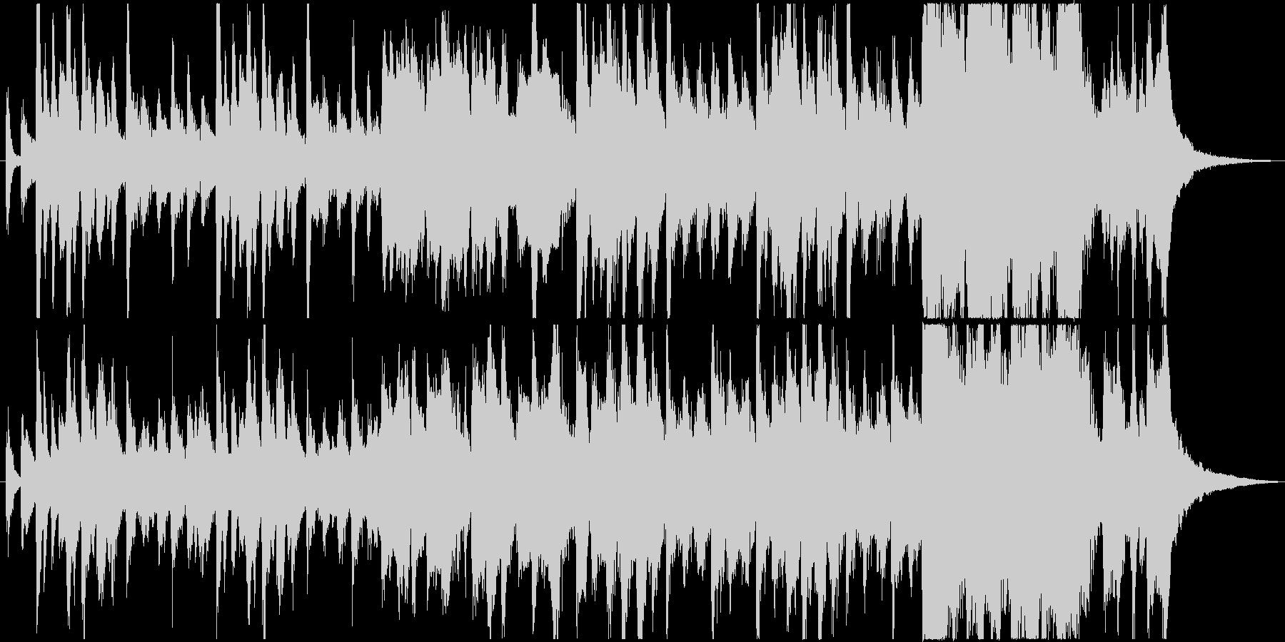 不思議で少し奇妙なファンタジック曲の未再生の波形