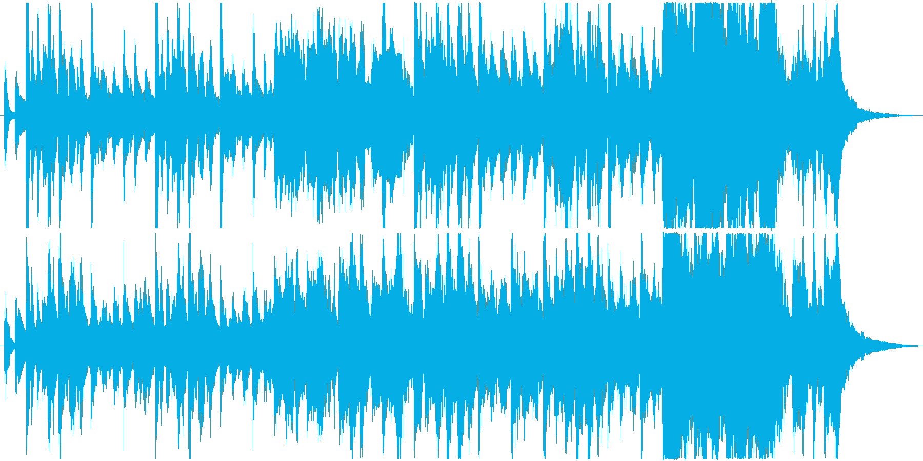 不思議で少し奇妙なファンタジック曲の再生済みの波形