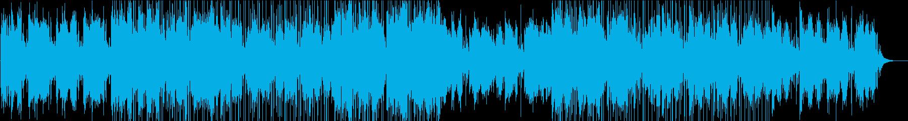 空撮の映像などに合う重厚でクールなBGMの再生済みの波形