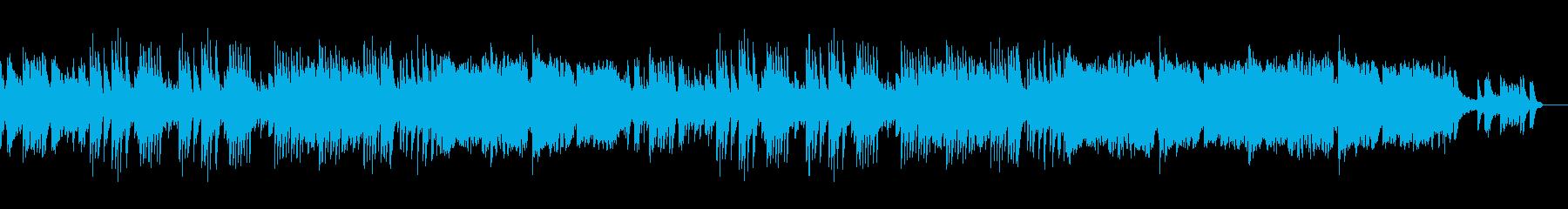ピアノとフルートの明るいメロディアス楽曲の再生済みの波形