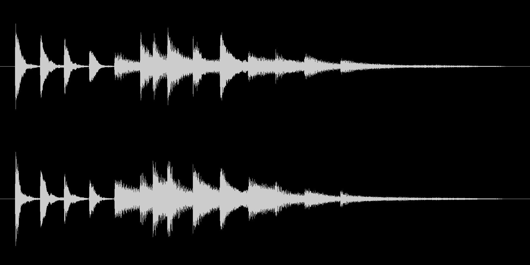 コミカルな ピアノのジングルの未再生の波形