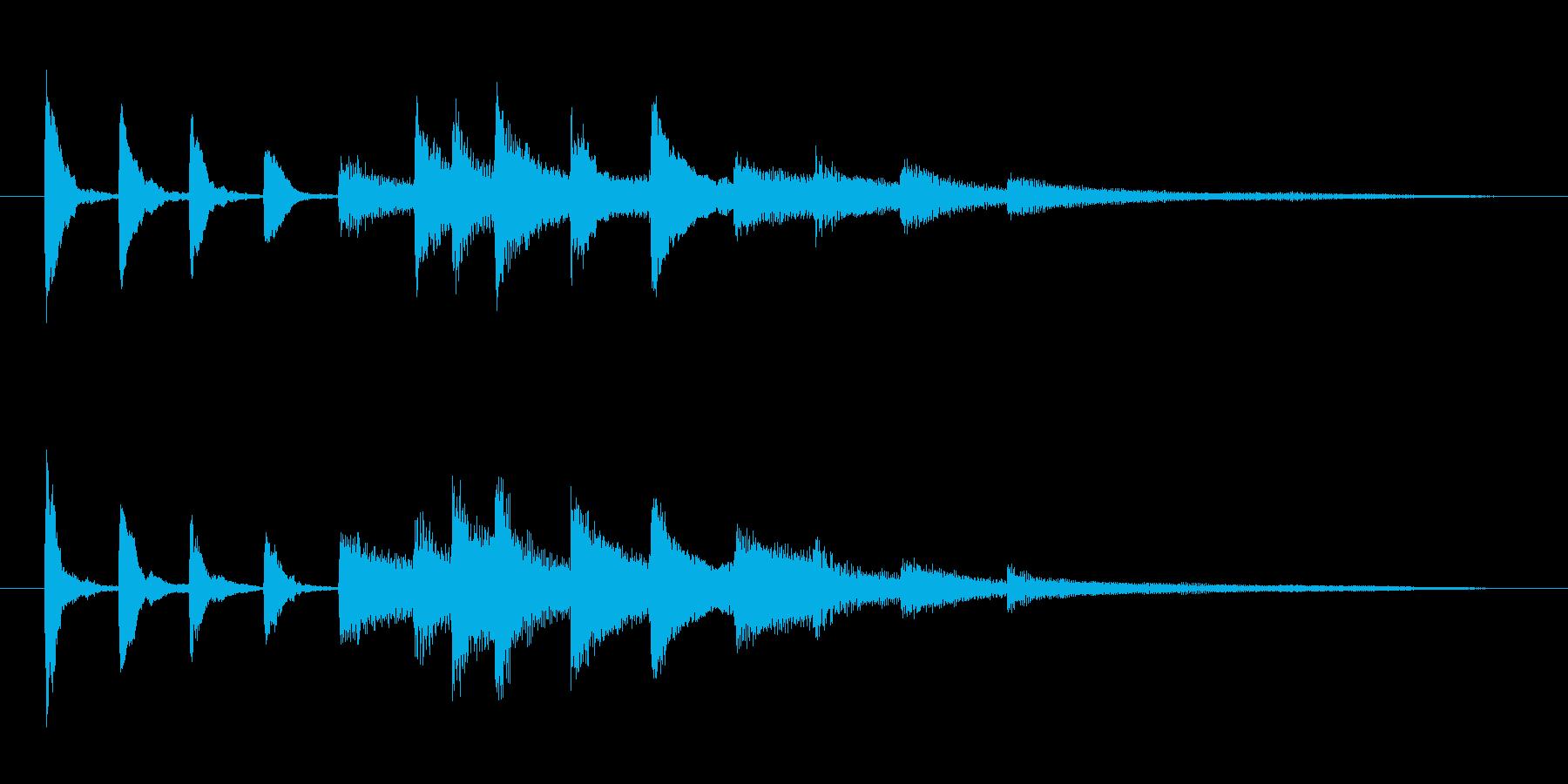 コミカルな ピアノのジングルの再生済みの波形