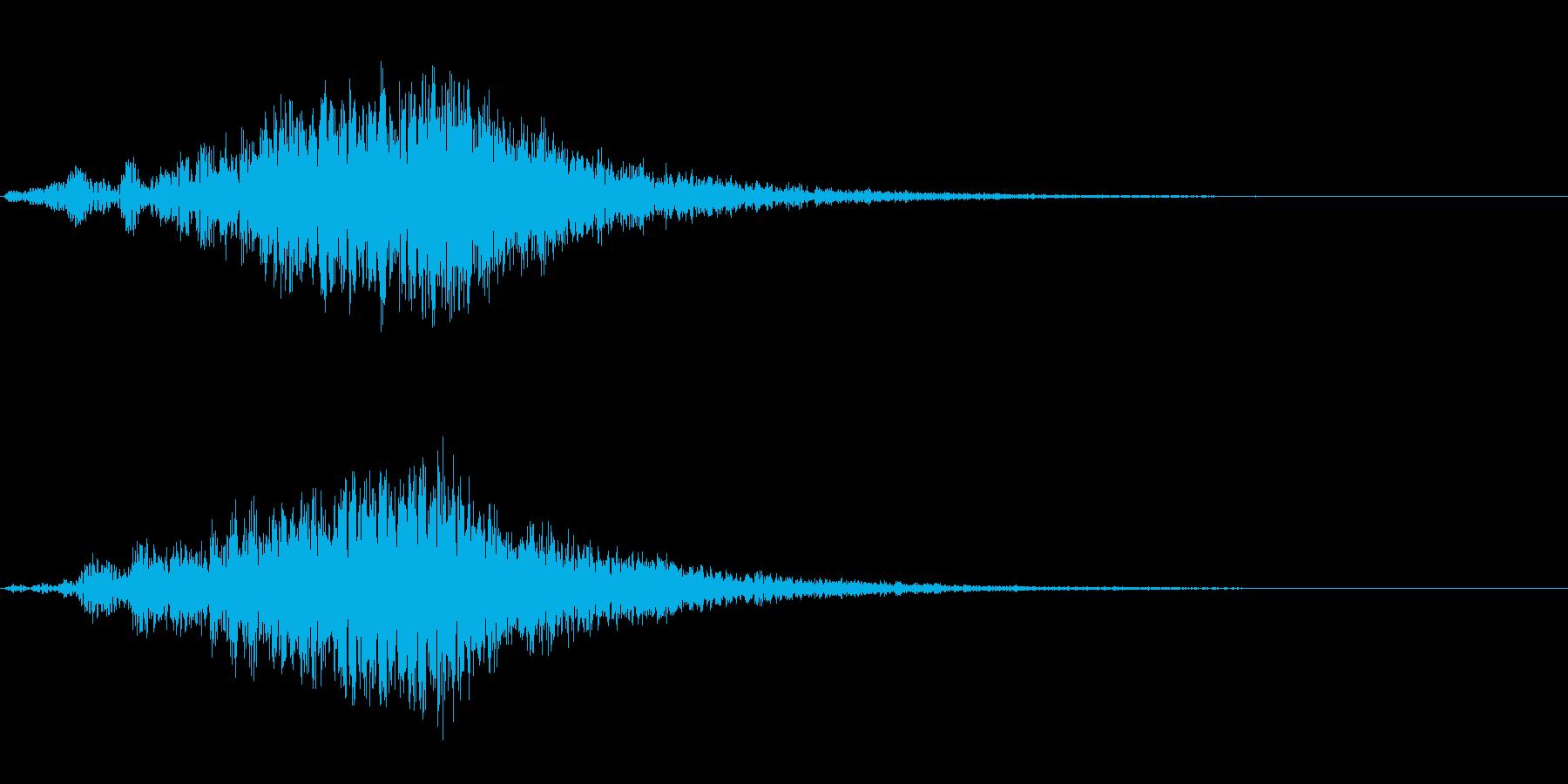 【SE 効果音】不気味な音11の再生済みの波形