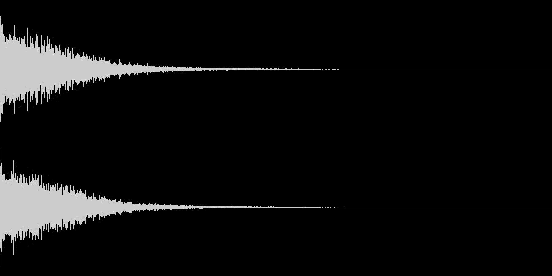 インパクト系 強調 重厚 豪華の未再生の波形