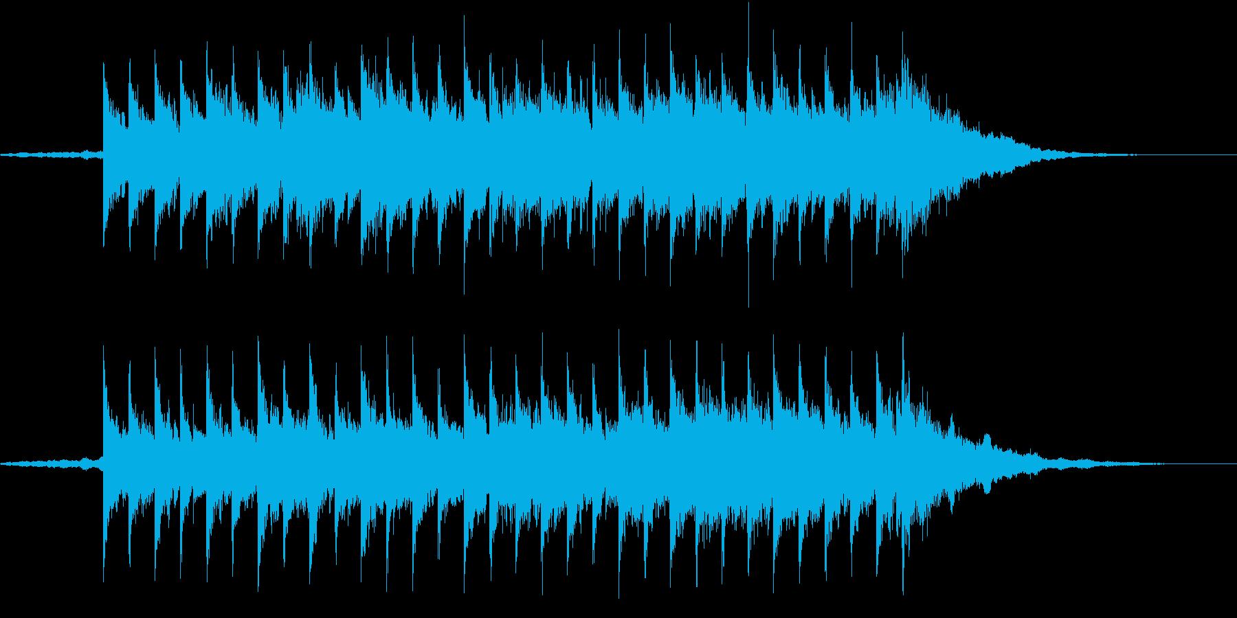 ゆったりオシャレなラウンジBGMショートの再生済みの波形