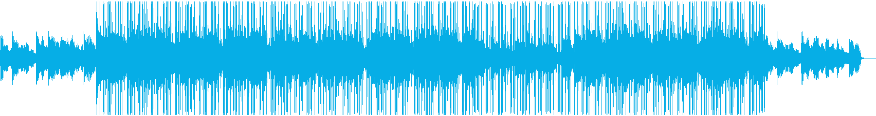 Lo-Fiのヒップホップビートの再生済みの波形