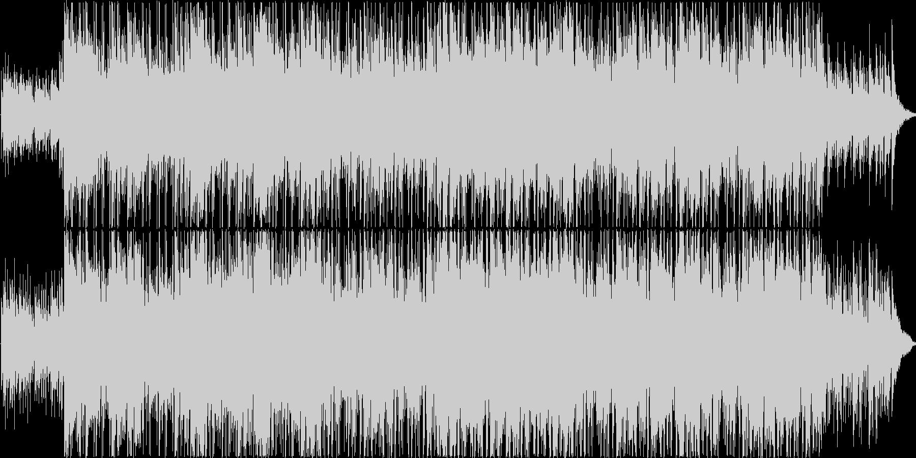 明るいボサノバテイストのBGMの未再生の波形