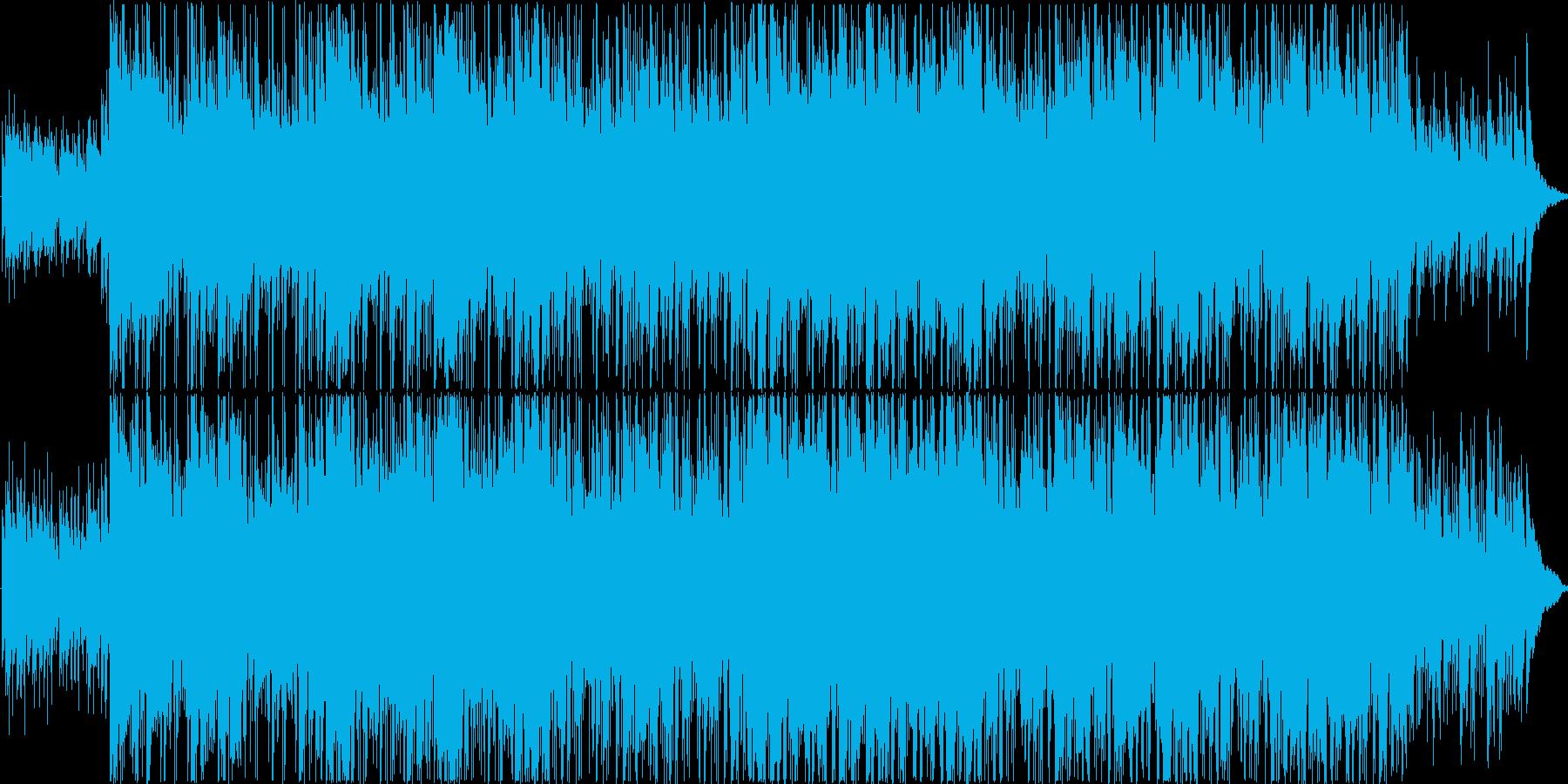 明るいボサノバテイストのBGMの再生済みの波形