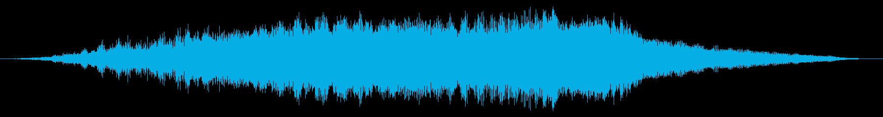 スペースメタリックシンセライザーの再生済みの波形