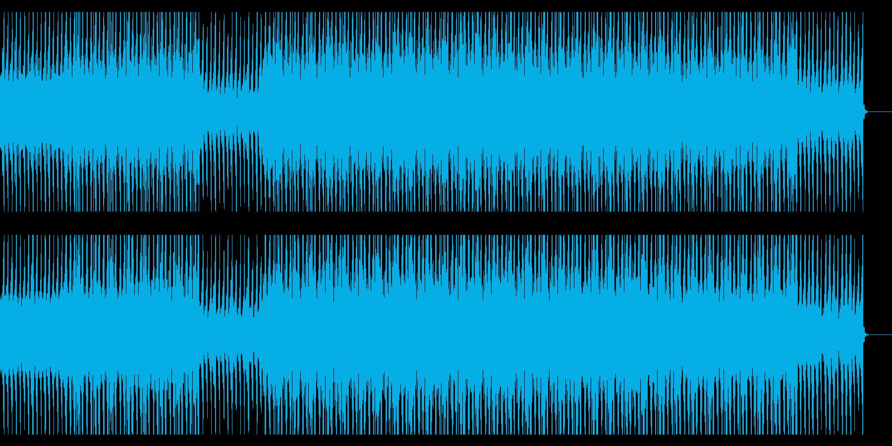重く暗い空気感の漂うBGMの再生済みの波形