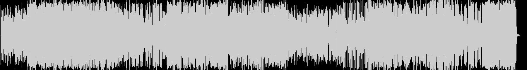 印象的なサビのラテンフュージョンナンバーの未再生の波形
