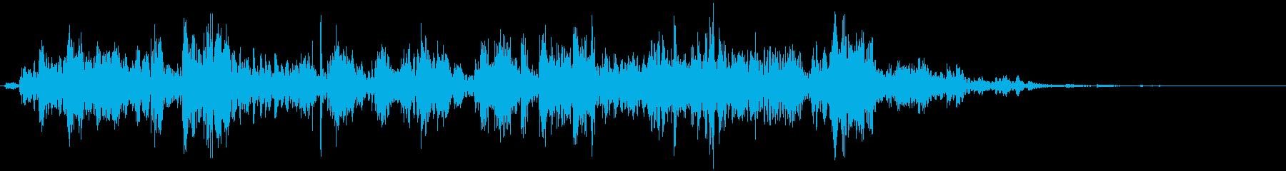 鎖を動かす音10【長い】の再生済みの波形