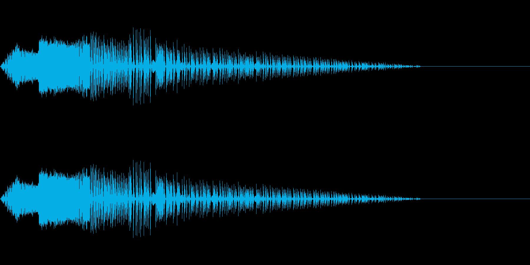 風切り(8bit風)の再生済みの波形