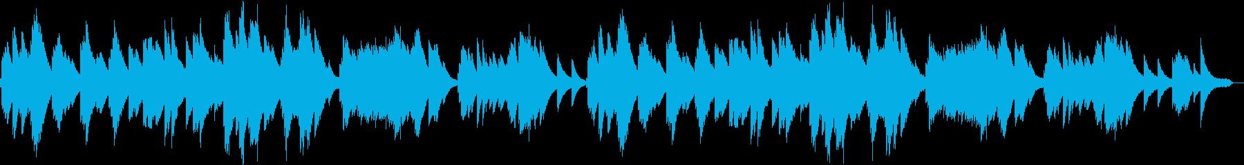 穏やかなエレピのゆったり優しいBGMの再生済みの波形