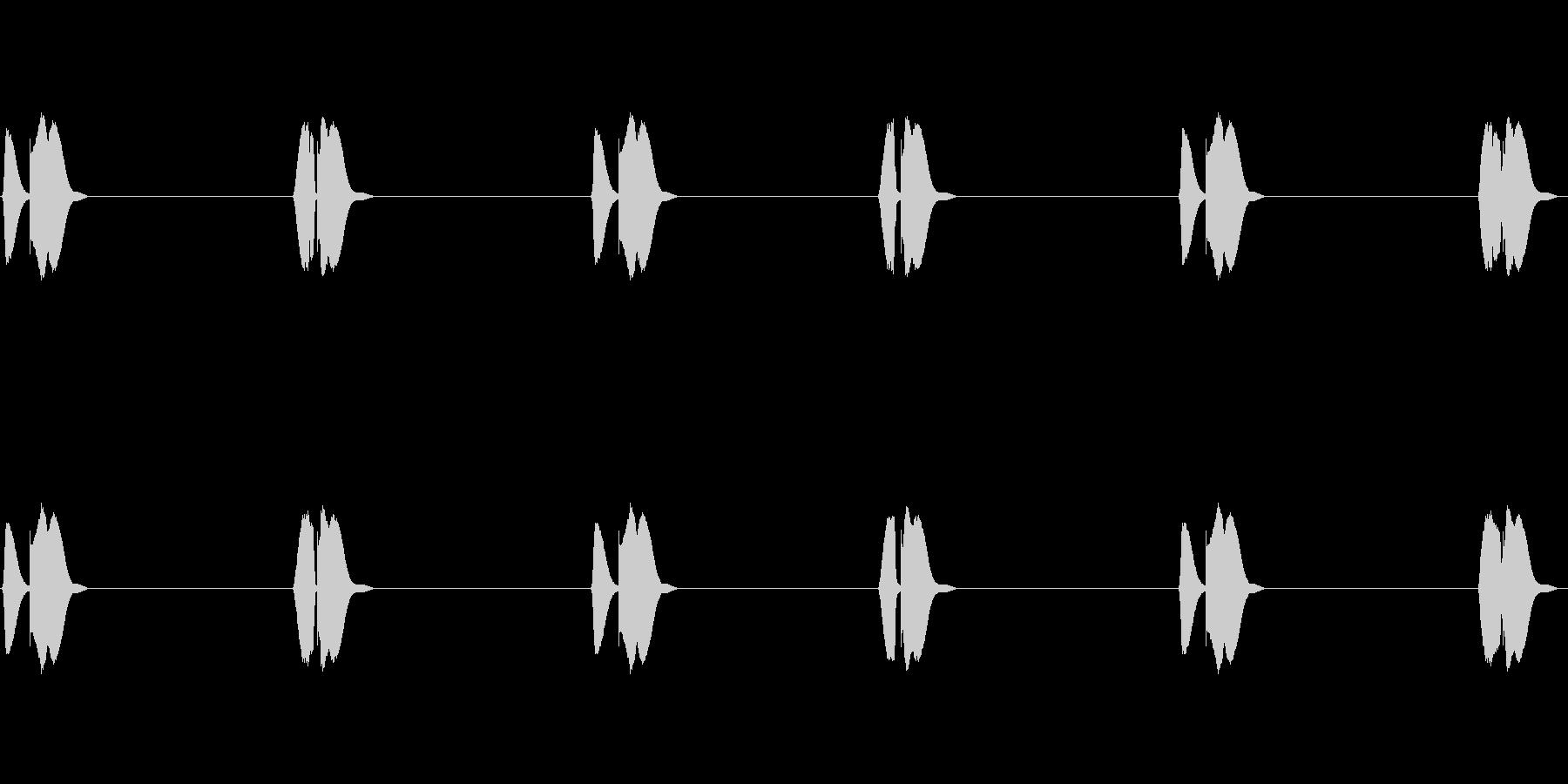可愛い足音(よちよち歩き)の未再生の波形