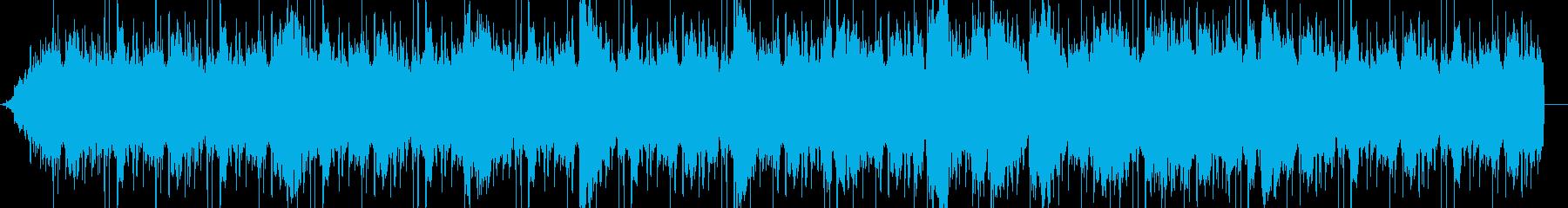 ゆったり神秘的な曲の再生済みの波形