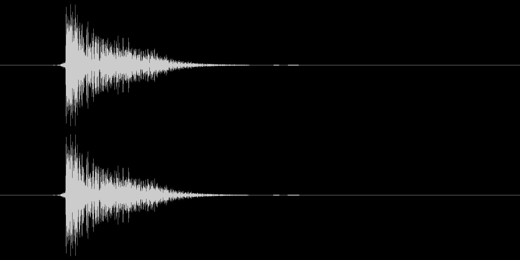 ピシャ(ビンタ)の未再生の波形